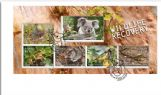 04/08/2020 Australia FDC Stamp Collecting Month 2020: Wildlife Recovery miniature sheet